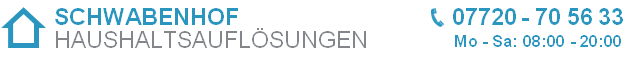 SCHWABENHOF Haushaltsauflösungen & Entrümpelungen Header